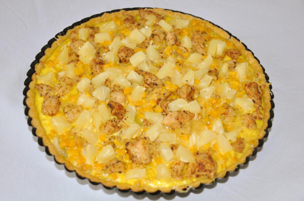 Tarta z kurczakiem i ananasem