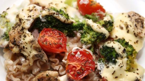 Zapiekanka makaronowo - brokułowa