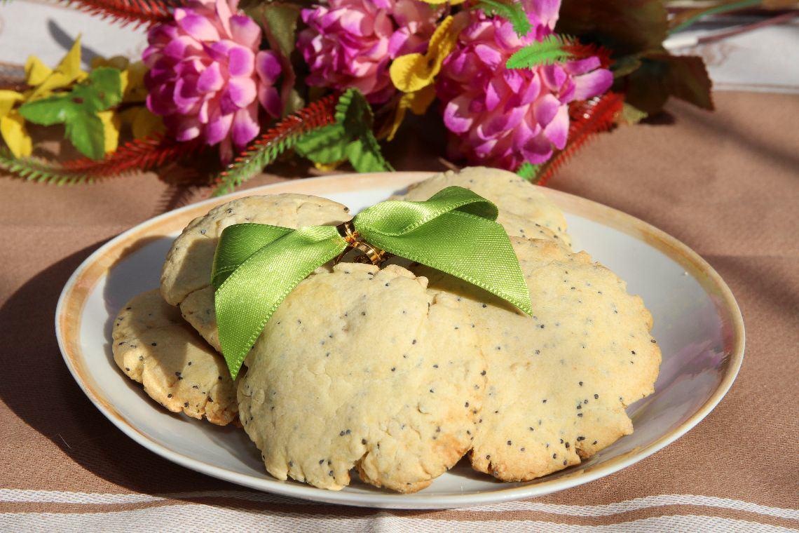 Ciasteczka cytrynowo- makowe