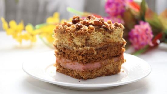 Ciasto orzechowo - kajmakowe