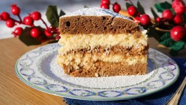Ciasto z kremem kokosowym i cykoriadą