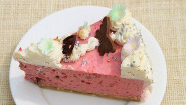 Tort malinowo-jogurtowy bez pieczenia
