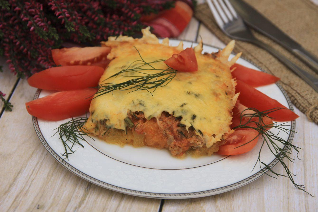 Zapiekanka z dyni i mięsa