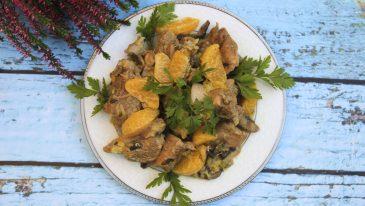 Gulasz z indyka w mandarynkach