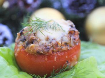 Pomidory zapiekane z serem i sardynkami