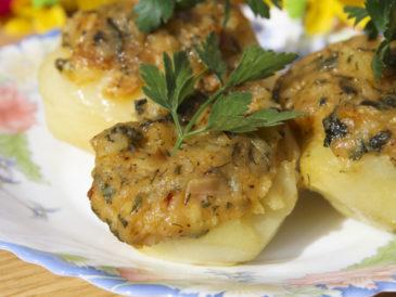 Ziemniaki zapiekane z gorgonzolą